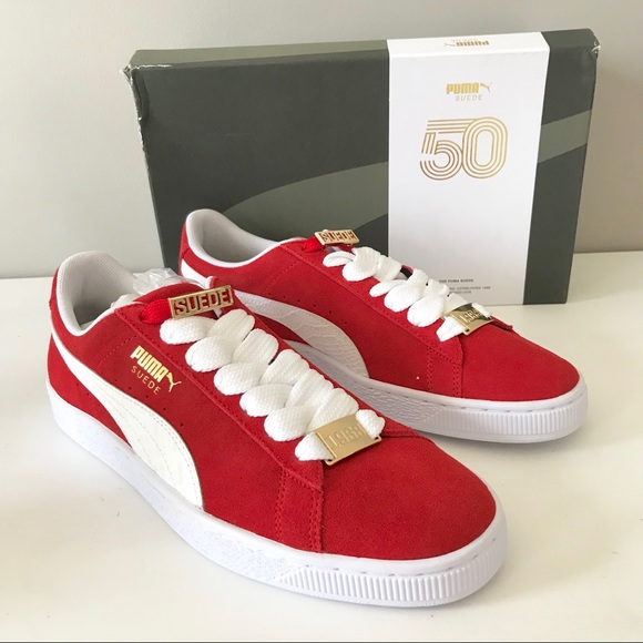 the latest f3339 3fc01 Puma suede men bboy classic red fabulous sneaker NWT